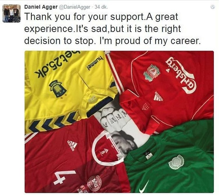 Agger futbolu bıraktı, sosyal medya sallandı!