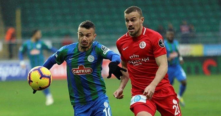 Çaykur Rizespor - Antalyaspor maç sonucu: 1-0