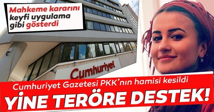 Cumhuriyet gazetesi, PKK'lının hamisi gibi