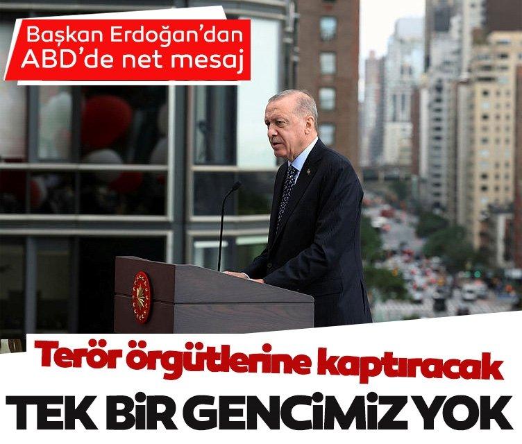 Başkan Erdoğan: Bizim terör örgütlerine kaptıracak tek bir gencimiz yok