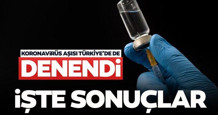 SON DAKİKA! Koronavirüs aşısı Türkiye'de de denendi! İşte 'Covid-19 aşısı'nda ilk sonuçlar...