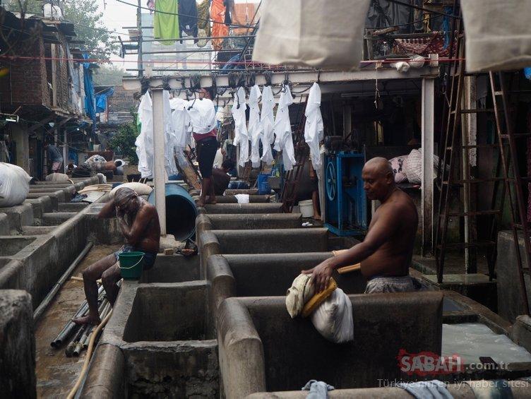 Hindistan'da 140 yıllık dünyanın en büyük çamaşırhanesi