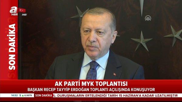 Son dakika: Cumhurbaşkanı Erdoğan'dan AK Parti MYK toplantısında önemli açıklamalar   Video