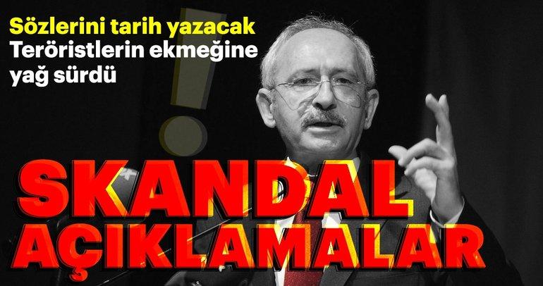 Kemal Kılıçdaroğlu'ndan teröriste ve terör örgütlerine sözlü destek