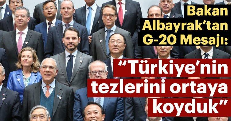 Son dakika haberi: Bakan Albayrak'tan G-20 mesajı
