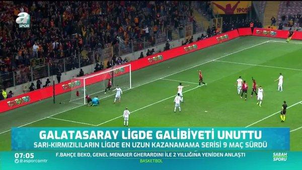 Galatasaray ligde galibiyeti unuttu