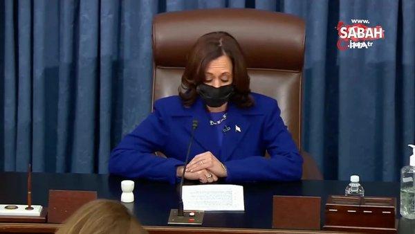 ABD Başkan Yardımcısı Kamala Harris Senatoda yemin ederek göreve başladı | Video