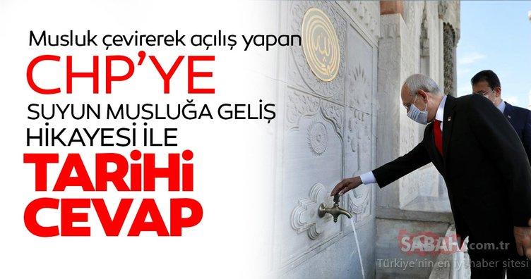 AK Parti'den Musluk çevirerek açılış yapan CHP'ye İstanbul'un su ile buluşmasını anlatan çarpıcı belgeler