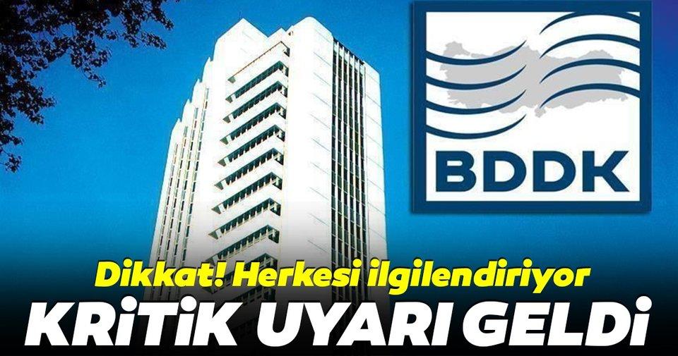 BDDK'dan dolandırıcılara karşı uyarı geldi