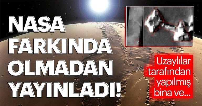NASA farkında olmadan yayınladı! Uzaylılar tarafından yapılmış bina ve...