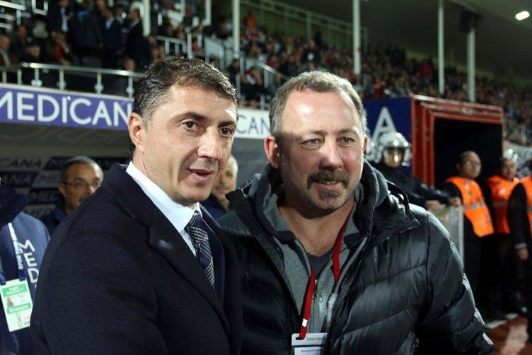 Sivasspor-Trabzonspor maçından kareler
