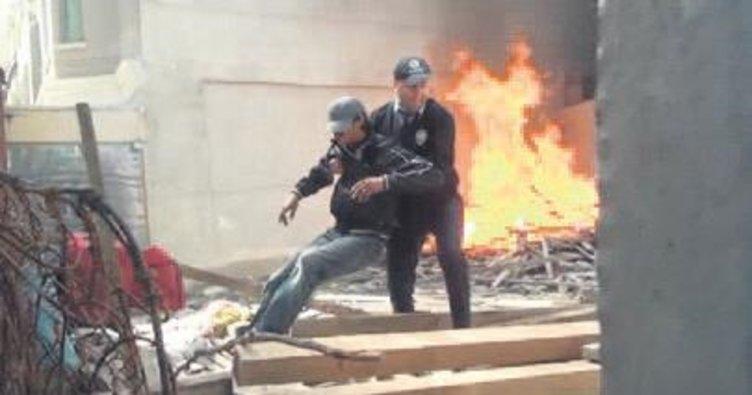 Kahraman polis canını hiçe saydı