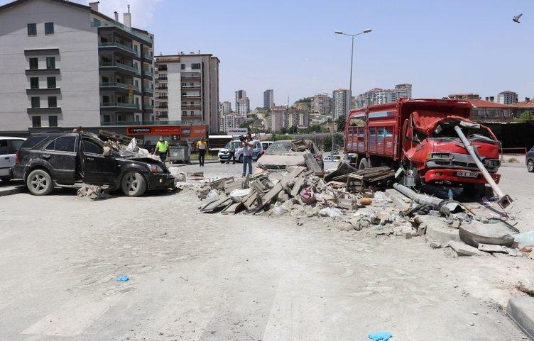 Ankara'da feci kaza! Ortalık savaş alanına döndü! Görgü tanıklarından korkunç sözler...