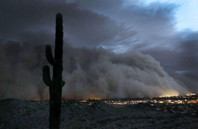 ABD Arizona'da kum fırtınası dehşeti