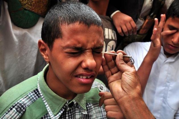 Yemen'de erkeklerin ramazan geleneği 'Sürme'