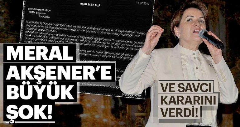 Meral Akşener'e TBMM Başkanı Kahraman'a hakaretten dava açıldı