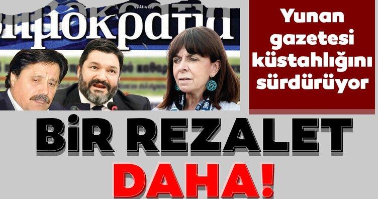 Yunan gazetesi küstah sözlerini sürdürdü! Alçak manşeti tekrar servis ettiler