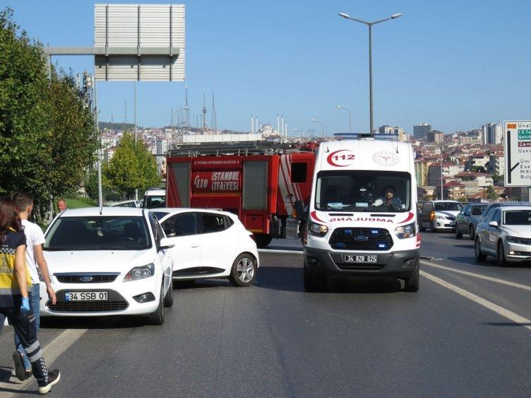 Ataşehir'de zincirleme trafik kazası