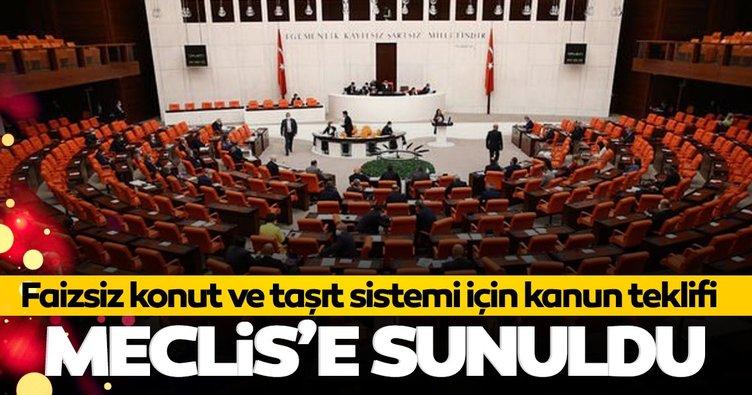 SON DAKİKA! Faizsiz konut ve taşıt sistemi için kanun teklifi Meclis'e sunuldu
