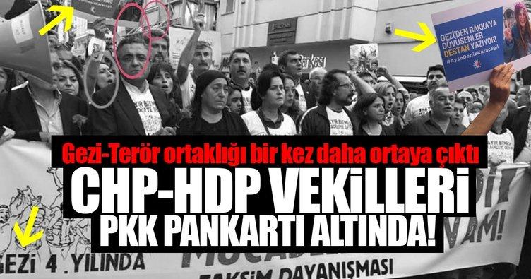 Gezi'nin PKK'lı teröristini anmaya CHP ve HDP'li vekiller birlikte katıldı