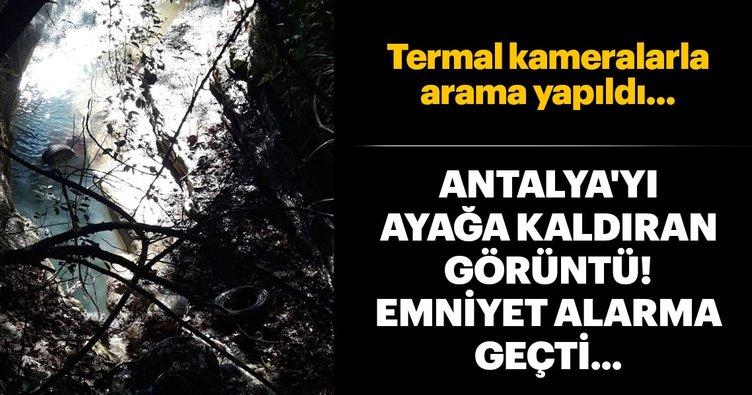 Antalya'da gizemli halı...
