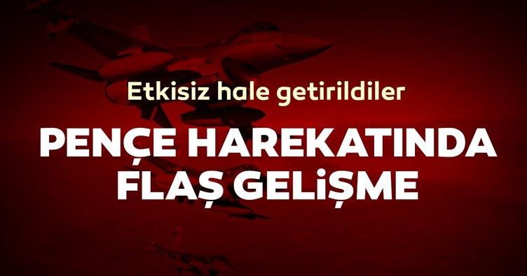 Pençe Harekatı'ndan son dakika haberi: PKK'lı teröristler etkisiz hale getirildi