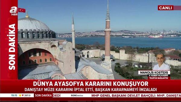 Dünya, Ayasofya Camii'ni konuşuyor   Video