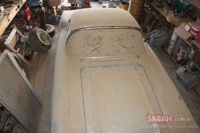 Neredeyse yarım yüzyıl garajda kaldı! Klasik araba muhteşem bir değişimle yollara geri döndü