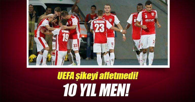 UEFA'dan Skenderbeu'ya 10 yıl men cezası!