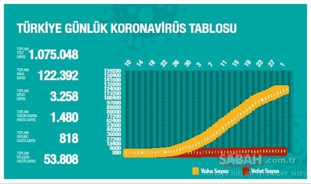 BAKAN KOCA SON DAKİKA DUYURDU! 1 Mayıs Türkiye Corona virüsü vaka ve ölüm sayısı: Türkiye illere göre vaka dağılımı ve canlı harita...