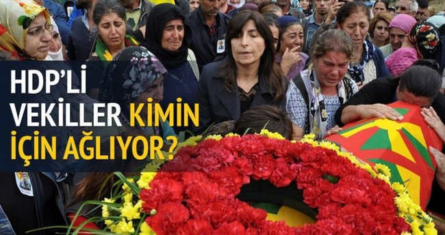HDP'liler PKK'lının cenaze namazında!