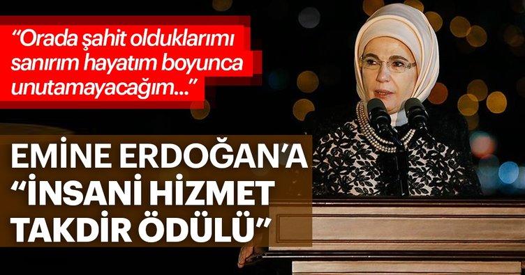 Son dakika: Emine Erdoğan'a İnsani Hizmet Takdir Ödülü