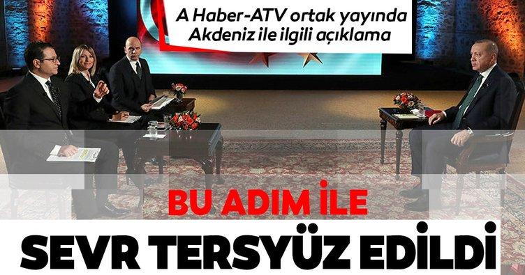 Başkan Erdoğan: Sevr'in tersyüz edilmesi var