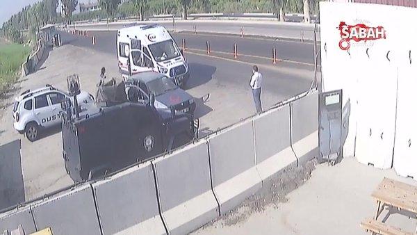 Kadın polisin uygulama noktasında doğum yaptırdığı anlar kamerada   Video