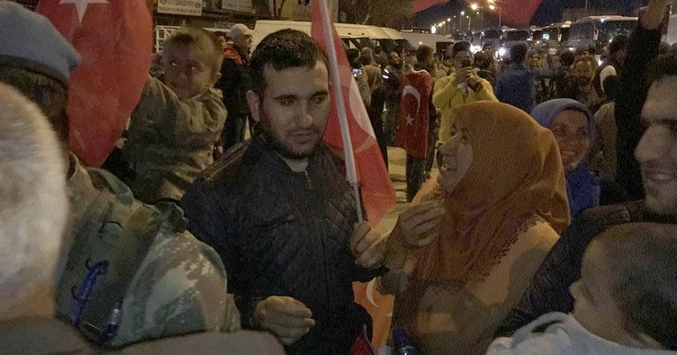 Afrin'e giden Uzman Çavuş'a ailesinden sürpriz