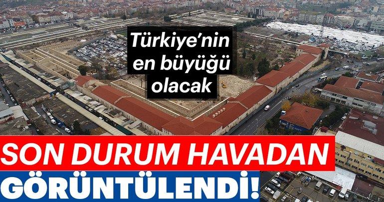 Türkiye'nin en büyüğü olacak! Son durum havadan görüntülendi...