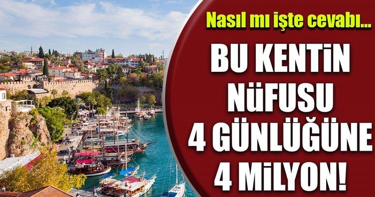 Bayramda Antalya'nın nüfusu ikiye katlayacak!