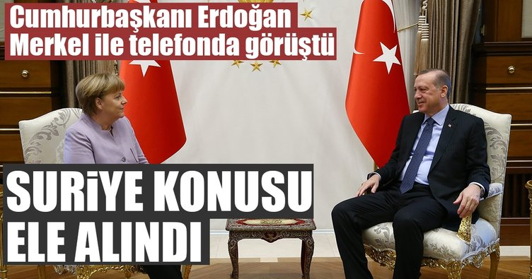 Son dakika: Erdoğan Merkel ile görüştü