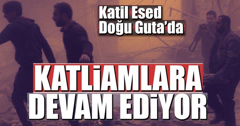 Katil Esed Doğu Guta'da katliamlara devam ediyor