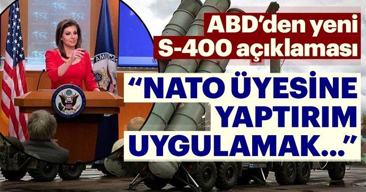 Son dakika: ABD'den Türkiye için yeni S-400 açıklaması
