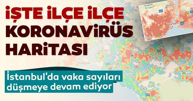 İstanbul'da vaka sayıları düşmeye devam ediyor! İşte ilçe ilçe koronavirüs haritası