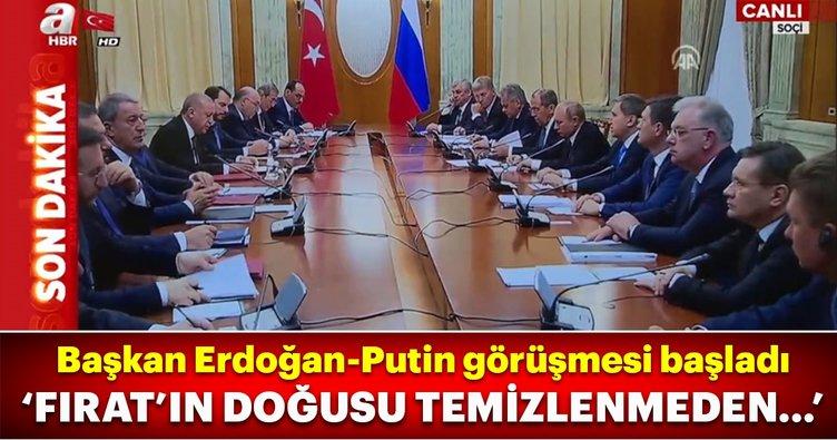 Başkan Erdoğan-Putin görüşmesi başladı