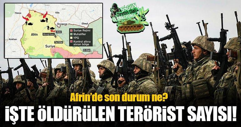 Afrin'de kaç terörist etkisiz hale getirildi?