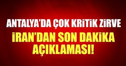 Antalya'da 3'lü dışişleri bakanları zirvesi