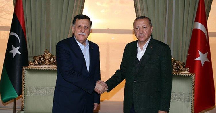 Erdoğan Libya Başkanlık Konseyi Başkanı'nı kabul etti