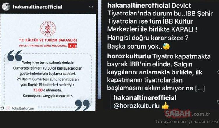 Oyuncu Hakan Altıner'den İBB'ye tiyatro eleştirisi!