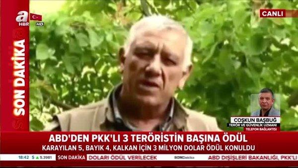 ABD, sözde PKK yöneticileri için ödül koydu