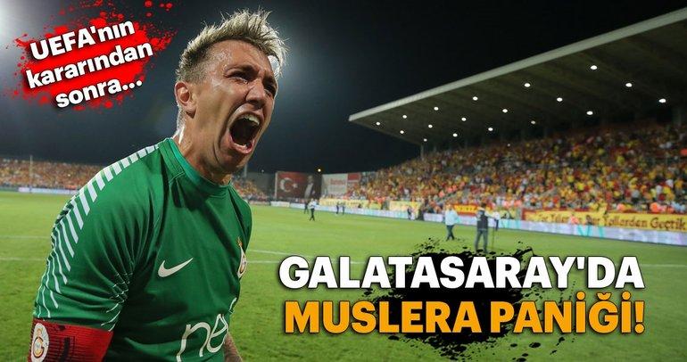 Galatasaray'da Muslera paniği!