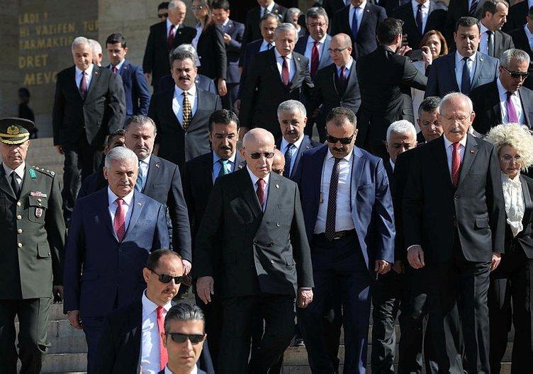 Anıtkabir'de 23 Nisan töreni