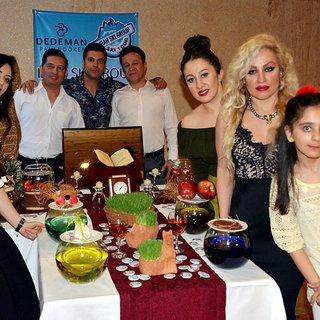 İranlı turistler, nevruzu Erzurum Palandöken'de kutladı